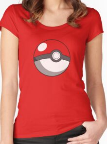 pokeball design Women's Fitted Scoop T-Shirt
