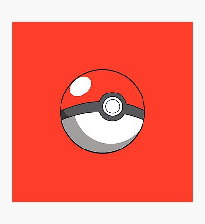 pokeball design Photographic Print