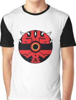 Darth Maul Pokemon Ball Mash-up Graphic T-Shirt