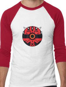 Darth Maul Pokemon Ball Mash-up Men's Baseball ¾ T-Shirt