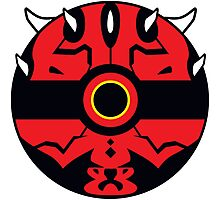 Darth Maul Pokemon Ball Mash-up Photographic Print