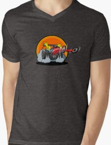 Cartoon dragster Mens V-Neck T-Shirt
