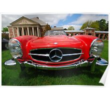 Red Benz Poster