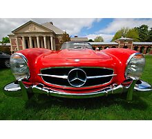 Red Benz Photographic Print