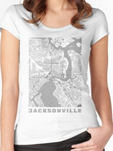 Jacksonville Map Line Women's Fitted Scoop T-Shirt