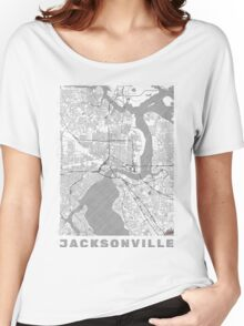 Jacksonville Map Line Women's Relaxed Fit T-Shirt