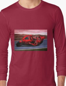 Casey Stoner on Ducati painting Long Sleeve T-Shirt