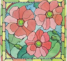 Trio of Blooms by karen pankow