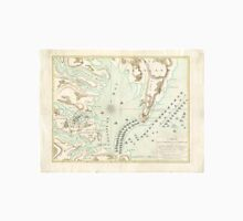 Vintage Map of The Battle of Yorktown (1781) Unisex T-Shirt