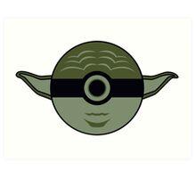 Yoda Pokemon Ball Mash-up Art Print