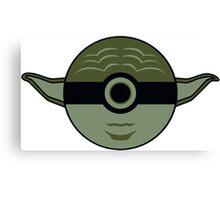 Yoda Pokemon Ball Mash-up Canvas Print