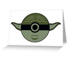 Yoda Pokemon Ball Mash-up Greeting Card