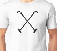 Crossed polo mallets Unisex T-Shirt
