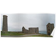 The tin mines of Cornwall Poster