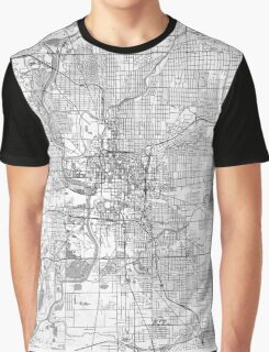 Indianapolis Map Line Graphic T-Shirt