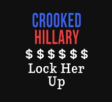 Crooked Hillary Lock Her Up t-shirt Unisex T-Shirt