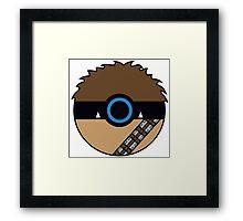 Chewbacca Pokemon Ball Mash-up Framed Print