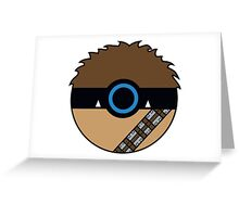 Chewbacca Pokemon Ball Mash-up Greeting Card