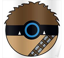 Chewbacca Pokemon Ball Mash-up Poster