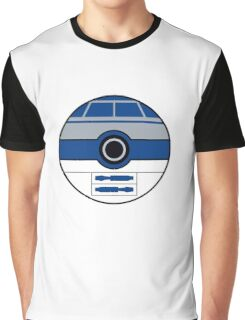 R2D2 Pokemon Ball Mash-up Graphic T-Shirt