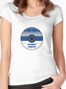 R2D2 Pokemon Ball Mash-up Women's Fitted Scoop T-Shirt