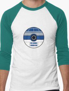 R2D2 Pokemon Ball Mash-up Men's Baseball ¾ T-Shirt
