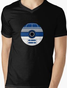 R2D2 Pokemon Ball Mash-up Mens V-Neck T-Shirt