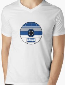R2D2 Pokemon Ball Mash-up Mens V-Neck T-Shirt
