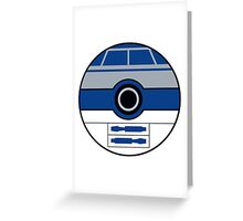 R2D2 Pokemon Ball Mash-up Greeting Card