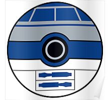 R2D2 Pokemon Ball Mash-up Poster