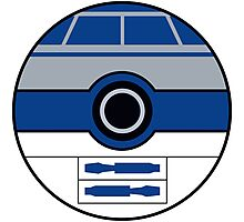 R2D2 Pokemon Ball Mash-up Photographic Print