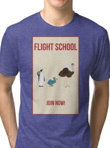 Flight School Illustration Tri-blend T-Shirt