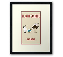 Flight School Illustration Framed Print