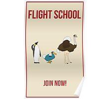 Flight School Illustration Poster
