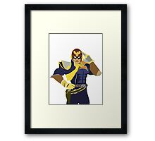 Captain Falcon Vector Framed Print