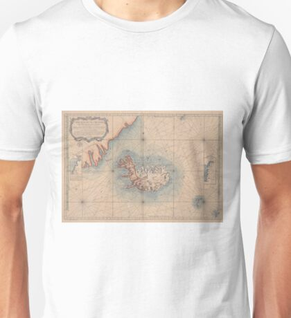 Vintage Map of Iceland (1767) Unisex T-Shirt