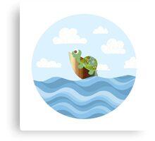 Surfing Turtle Canvas Print