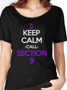 Keep Calm And Call Section 9 Anime Manga Shirt Women's Relaxed Fit T-Shirt