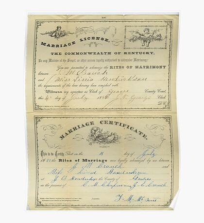 1892, J.M. CROUCH & MISS LINIA HENDRICKSON Poster