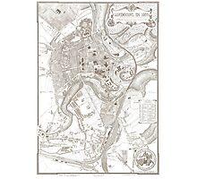 Vintage Map of Luxembourg Belgium (1907) Photographic Print