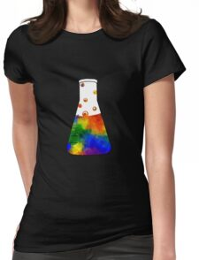 Rainbow Erlenmeyer Womens Fitted T-Shirt