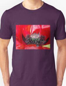 Giant red poppy Unisex T-Shirt