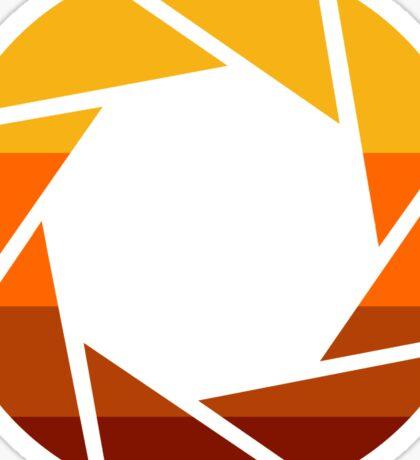 70s Modern Portal Aperture Logo (Hot) Sticker