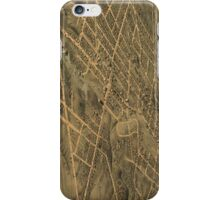 Vintage Pictorial Map of Akron Ohio (1870) iPhone Case/Skin
