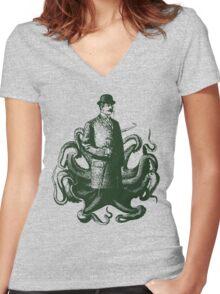 Sir Corin Thulhu  Women's Fitted V-Neck T-Shirt