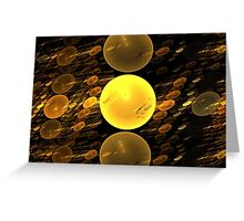 Copper Bubbles Greeting Card
