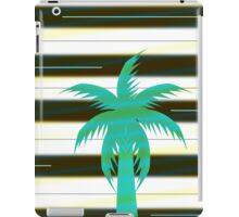Palm tree on stripes iPad Case/Skin