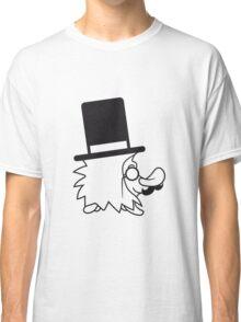 süßer kleiner niedlicher sir herr gentlemen igel zylinder monokel brille schnurrbart mustache lustig  Classic T-Shirt