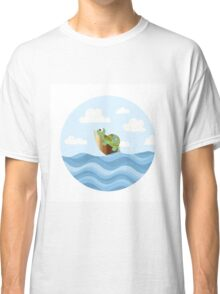 Turtle on a Surfboard Classic T-Shirt