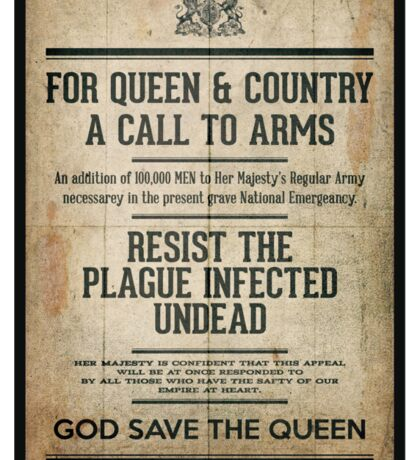 Resist the Plague infected undead Sticker